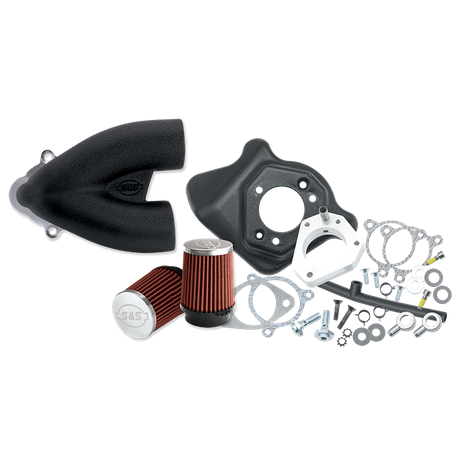 S&S<sup>®</sup> Single Bore Tuned Induction Kit for 2008-'16 HD<sup>®</sup> Touring Stock-Bore Throttle By Wire and '16 Softail<sup>®</sup> (except Tri-Glide<sup>®</sup> & CVO<sup>®</sup>) Models - Black
