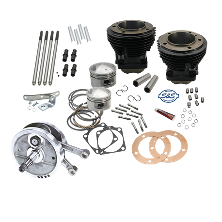 "98"" Sidewinder<sup>®</sup>  Big Bore Stroker  Kit for 1970-'84 HD<sup>®</sup> Big Twins - GlossBlack Finish"