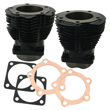 "3-7/16"" Bore Cylinder Set for 1936-'47 OHV Engines - Hi-Temp Black"
