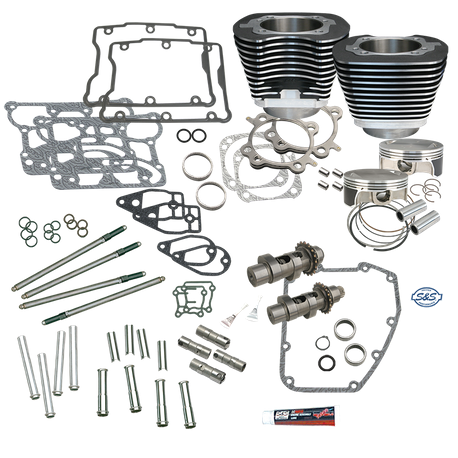 "S&S 106"" Big Bore Hot Set Up Kit<sup>®</sup> Without Cylinder Heads For 2007-'17 Big Twins - Wrinkle Black"