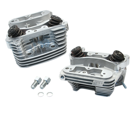 "Super Stock<sup>®</sup> Cylinder Head Kit For S&S<sup>®</sup> 4"" Bore V107 and V113 Engines For 1984-'99 HD<sup>®</sup> Big Twins - Polished Aluminum Finish"
