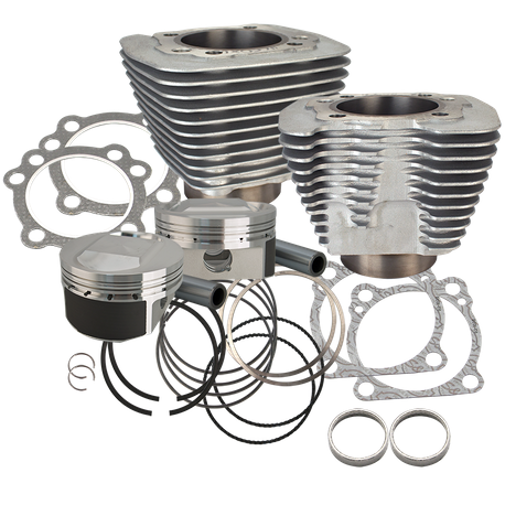 1250cc Conversion Kit for 1986-2016 HD<sup>®</sup> Sportster<sup>®</sup> Models High Compression - Silver Finish