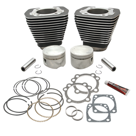 "89"" 3-1/2"" Bore Cylinder and Piston Kit For 1984-'99 Big Twins With Stock Cylinder heads and 4-5/8"" Stroke Flywheels - Wrinkle Black Finish"
