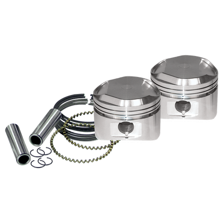 "89"" High Compression Stroker Pistons For 1984-'99 HD<sup>®</sup> Big Twins And 1986-'03 HD<sup>®</sup> Sportster<sup>®</sup> Models W/ Super Stock Heads - +.010"""