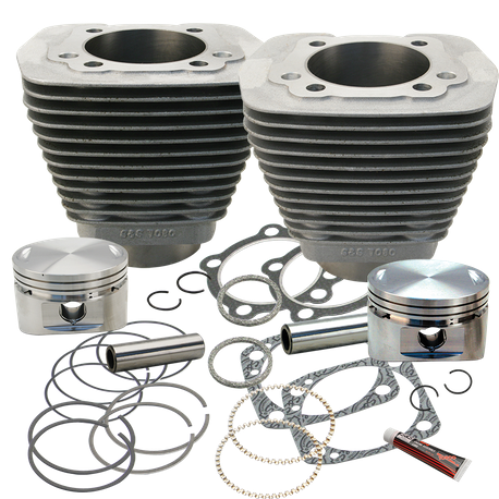 "93"" 3-5/8"" Bore Cylinder and Piston Kit for S&S V93 Engines With S&S Performance Replacement Cylinder Heads and 93"" Sidewinder Kits With Stock Heads For 1984-'99 HD Big Twins - Natural Aluminum Finish"