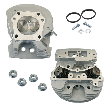 "S&S<sup>®</sup> Super Stock<sup>®</sup> Cylinder Heads For S&S<sup>®</sup> 4-1/8"" V-Series Engines For 1984-'99 - Wrinkle Natural Aluminum Finish"