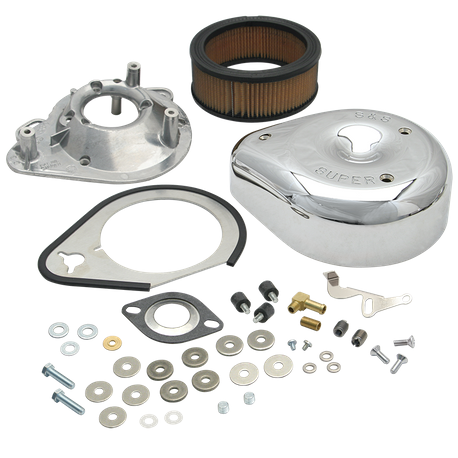 Replacement Air Cleaner Kit For S&S<sup>®</sup> TÜV Super E Carburetor Kits For 1984-'92 HD<sup>®</sup> Big Twins and 1986-'90 Sportster<sup>®</sup> Models