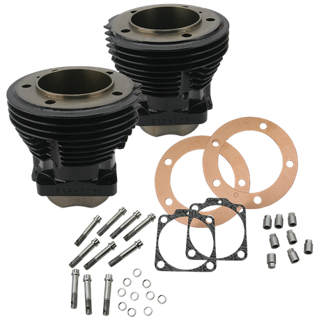 "3-5/8"" Bore Cylinder Set for 1966-'84 Big Twins, 88"" - Gloss Black"