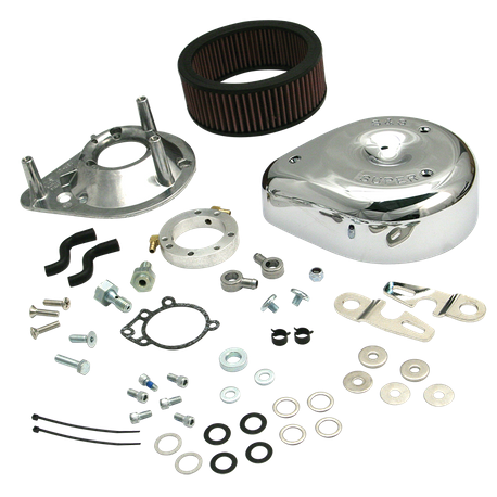 S&S<sup>®</sup> Teardrop Air Cleaner Kit for 2007-'16 HD<sup>®</sup> XL Sportster<sup>®</sup> Models with Stock EFI - Chrome