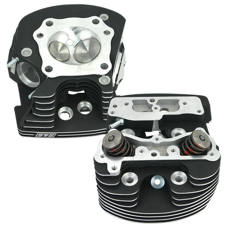 "S&S<sup>®</sup> Super Stock<sup>®</sup> Cylinder Heads For S&S<sup>®</sup> 4-1/8"" T-Series Engines For 1999-'06 - Polished Aluminum Finish"