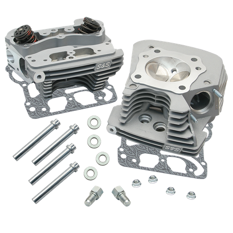 S&S<sup>®</sup> Super Stock<sup>®</sup> 89cc Cylinder Head Kit For 1999-'05 HD<sup>®</sup> Big Twins - Silver Powder Coat Finish