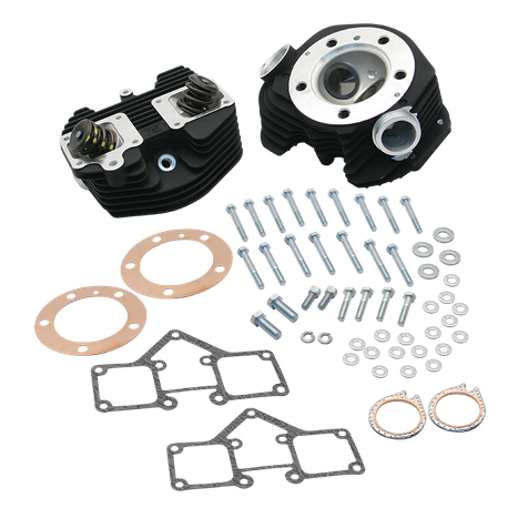 S&S<sup>®</sup> Super Stock<sup>®</sup> Stock Bore Band Style Single Plug Cylinder Head Kit For 1979-'84 HD<sup>®</sup> Big Twins - Wrinkle Black Powder Coat Finish