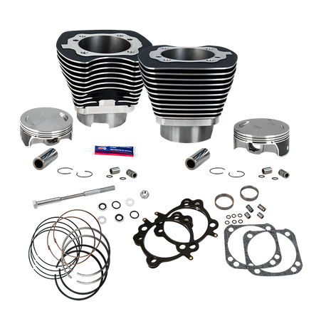 "Replacement 4-1/8"" Bore Cylinder and Piston Kit With Stock Bolt Pattern For 1999-2006 Big Twins"