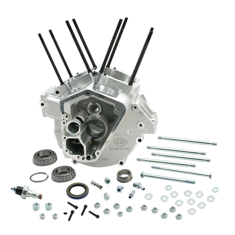 "Super Stock<sup>®</sup> Alternator Style Crankcase for 1992-'99 Big Twins with 3-5/8"" Bore for Small Diameter Flywheels - Natural"