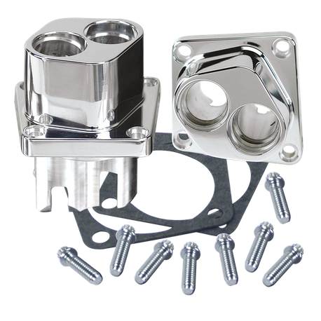 Polished Billet Tappet Guide Set For S&S<sup>®</sup> V-Series and special Application Crankcases 1984-'99