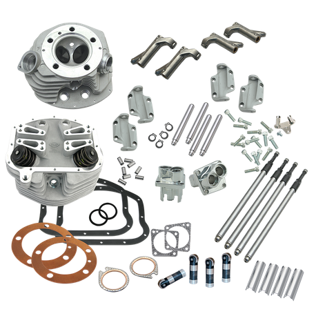 "3-5/8"" Bore Dual Plug Retro Cylinder Head and Valve Train Upgrade Kit for 1966-'84 big twins"