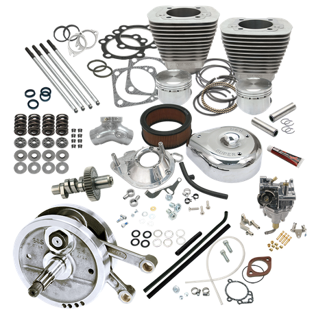 "Complete 96"" 3-5/8"" Big Bore/Stroker Hot Set Up Kit For 1993-'99 Big Twins - Natural"