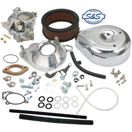 Super G Partial Carburetor Kit for 1993-99 Big Twins (without manifold and mounting hardware)