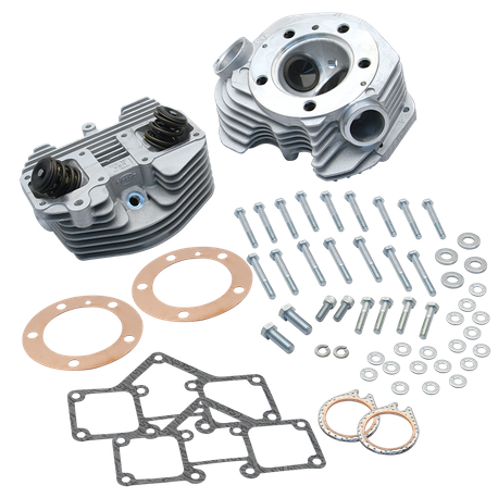 S&S<sup>®</sup> Super Stock<sup>®</sup> Stock Bore Band Style Single Plug Cylinder Head Kit for 1979-'84 Big Twins - Natural Aluminum FInish