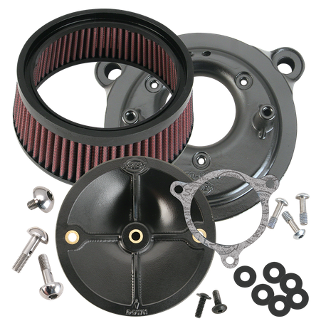 S&S<sup>®</sup> Stealth Air Cleaner Kit Without Air Cleaner Cover for 2008-'17 HD<sup>®</sup> Twin Cam<sup>®</sup>, 103<sup>™</sup>, 110<sup>™</sup> Tri-Glide and CVO<sup>®</sup> Stock-Bore Throttle By Wire Models - Chrome