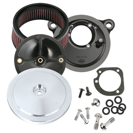 S&S<sup>®</sup> Stealth Air Cleaner Kit With S&S<sup>®</sup> Domed Bobber Air Cleaner Cover For 1993-'99 HD<sup>®</sup> Big Twin Models With CV Carburetor