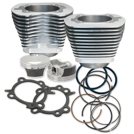 97'' Big Bore Cylinder  Kit for 1999-'06 Big Twins - Silver Powder Coat Finish