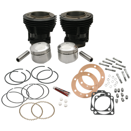 "96"" 3-5/8"" Big Bore Cylinder and Piston Kit for S&S SH96 Engines or 1966-84 HD<sup>®</sup> Big Twins With S&S 96"" Sidewinder Kit - Gloss Black Finish"