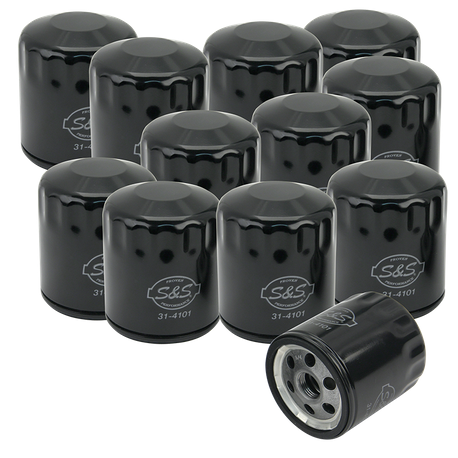 12 Pack of Black Oil Filters for HD<sup>®</sup> Sportster<sup>®</sup>, HD<sup>®</sup> Evolution<sup>®</sup>