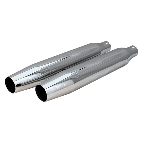 Tapered Slip-on Muffler Kit for 1995-'16 HD<sup>®</sup> Dyna<sup>®</sup> Models - Chrome (except 2008-'16 HD<sup>®</sup> Fat Bob<sup>®</sup> and 2010-'16 HD<sup>®</sup> Wide Glide<sup>®</sup>
