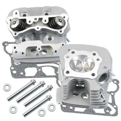 "S&S<sup>®</sup> Super Stock<sup>®</sup> 91cc Cylinder Heads For For S&S<sup>®</sup> T-Series Complete Engines and 1999-'05 HD<sup>®</sup> Big Twins With S&S<sup>®</sup> 4-1/8"" Bore Hot Set Up Kit - Si"