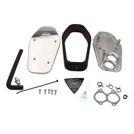 S&S<sup>®</sup> Air Cleaner Kit For 2008-'16 Victory<sup>®</sup> Cruiser  Models - Polished Billet Aluminum