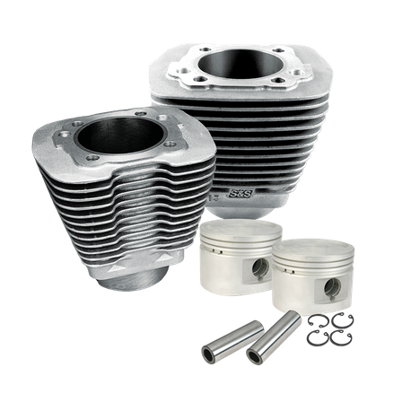 "3-1/2"" Bore Cylinder & Piston Kit For 1984-'99 Big Twins With Stock Or S&S Performance Replacment Cylinder Heads - Natural Aluminum Finish"