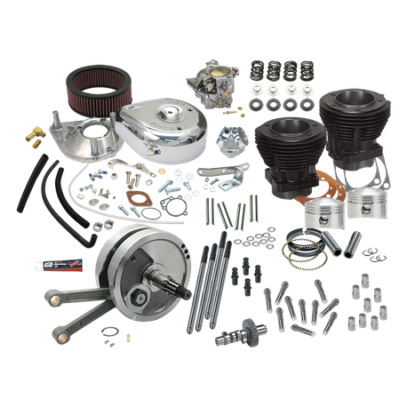 "Complete 93"" 3-5/8"" Big Bore Stroker Hot Set Up Kit For 1978-'84 Big Twins"