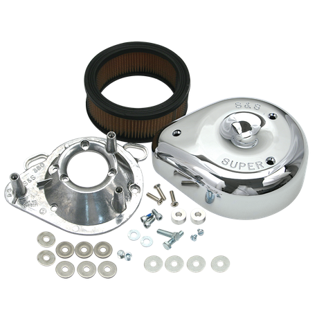 "S&S<sup>®</sup> Teardrop Air Cleaner For S&S<sup>®</sup> 1984-'16 4-1/8"" Bore Engines With S&S<sup>®</sup> Single Bore 58mm EFI Throttle Body"