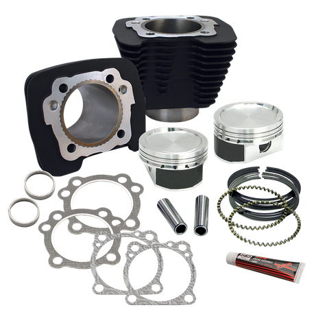 883 to 1200cc Conversion Kit for 1986-2016 HD<sup>®</sup> Sportster<sup>®</sup> Models - Wrinkle Black Finish