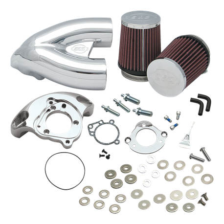 S&S<sup>®</sup> Single Bore Tuned Induction Kit for 2007-'17 HD<sup>®</sup> XL Sportster<sup>®</sup> Models with Stock EFI - Chrome