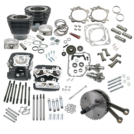 "124"" Hot Set Up Kit<sup>®</sup> With S&S Cylinder Heads For 1999-'06 HD<sup>®</sup> Non-Balanced Big Twins (Except 2006 HD<sup>®</sup> Dyna<sup>®</sup> Models) - Wrinkle Black"