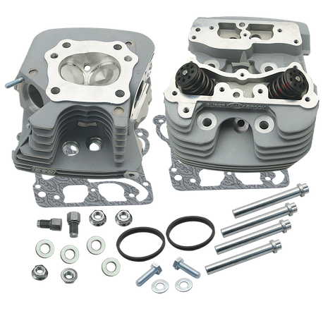 S&S<sup>®</sup> Super Stock<sup>®</sup> 89cc Cylinder Head Kit For 2006-'16 HD<sup>®</sup> Big Twins -Silver Powder Coat Finish