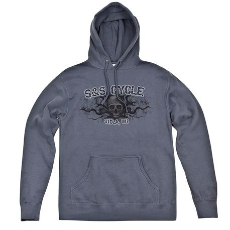 S&S<sup>®</sup> Skull Hooded Sweat-Shirt - Gray