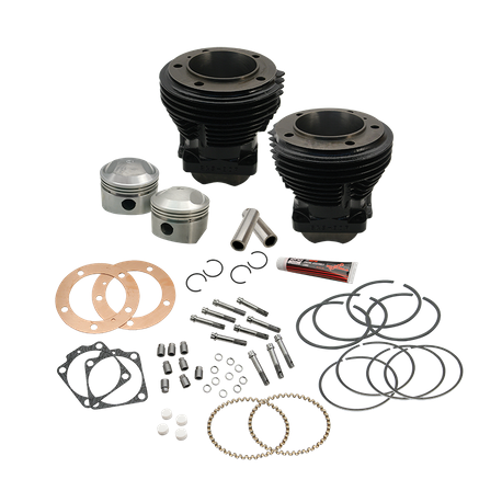 "103"" 3-5/8"" Big Bore Cylinder and Piston Kit for S&S SH98 Engines or 1966-84 HD<sup>®</sup> Big Twins With S&S 103"" Sidewinder Kit - Gloss Black Finish"