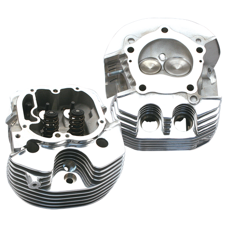 Replacement Cylinder Heads For All S&S<sup>®</sup> X-Wedge<sup>®</sup> Engines. Polished Aluminum Finish