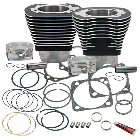 "4 1/8"" Bore Cylinder & Pistons Kit for S&S V124 Engines For 1984-'99 Big Twins - Wrinkle Black Finish"
