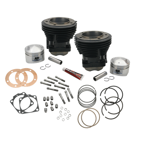 "93"" Standard Compression 3-5/8"" Big Bore Cylinder and Piston Kit for S&S SH93 Engines or 1966-84 HD<sup>®</sup> Big Twins With S&S 93"" Sidewinder Kit - Gloss Black Finish"