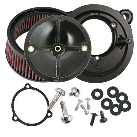 S&S<sup>®</sup> Stealth Air Cleaner Kit Without Cover For 2008-'16 HD<sup>®</sup> Touring Models, 2009-'16 Tri-Glide, and 2011 Softail CVO with S&S<sup>®</sup> 58mm Throttle Hog