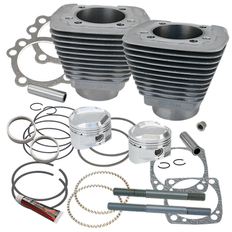 "89"" Low Compression Sidewinder Big Bore Cylinder and Piston kit  for 1986-'16 HD<sup>®</sup> Sporster<sup>®</sup> and  1994-'02 Buell<sup>®</sup> Models With S&S Super Stock<sup>®</sup> Heads - Natural Aluminum"