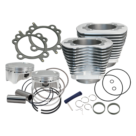 "107"" Bolt-In Big Bore Kit for 2007-'17 HD<sup>®</sup> Big Twins (except '17 touring) - Silver Finish"