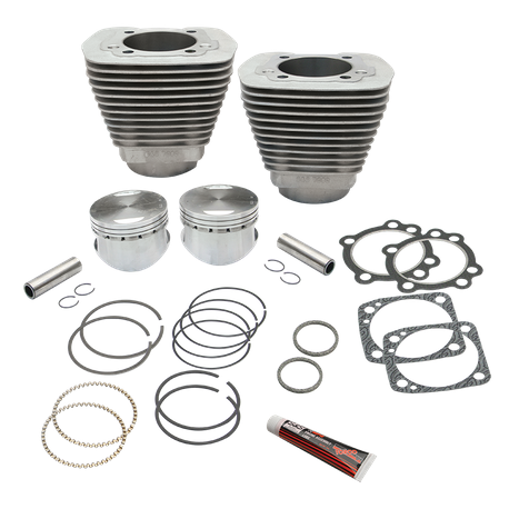 "96"" 3 5/8"" Big Bore Cylinder and Piston Kit for 1984-'99 Big Twins with Stock Cylinder Heads - Natural Aluminum Finish"