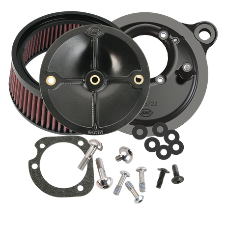 S&S<sup>®</sup> Stealth Air Cleaner Kit Without Cover For All Fuel Injected 2008-'16 HD® Models Originally Equipped With Throttle by Wire, except CVO® and Tri-Glide®