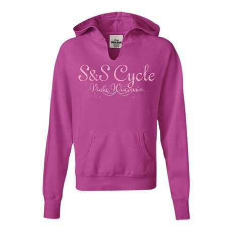 S&S<sup>®</sup> Ladies HoodedSweat-Shirt - XL, Rasberry