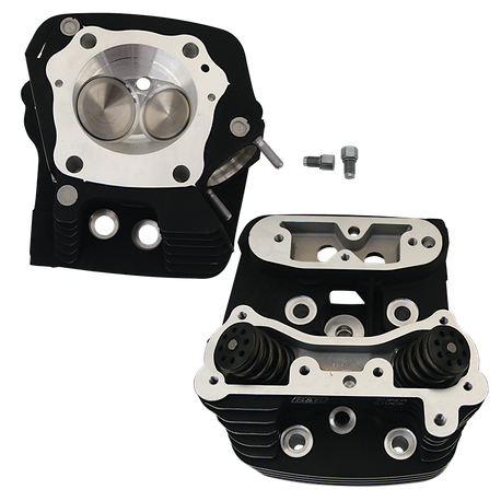 "Super Stock<sup>®</sup> Cylinder Head Kit For S&S<sup>®</sup> 4"" Bore V107 and V113 Engines For 1984-'99 HD<sup>®</sup> Big Twins - Wrinkle Black Powder Coat Finish"